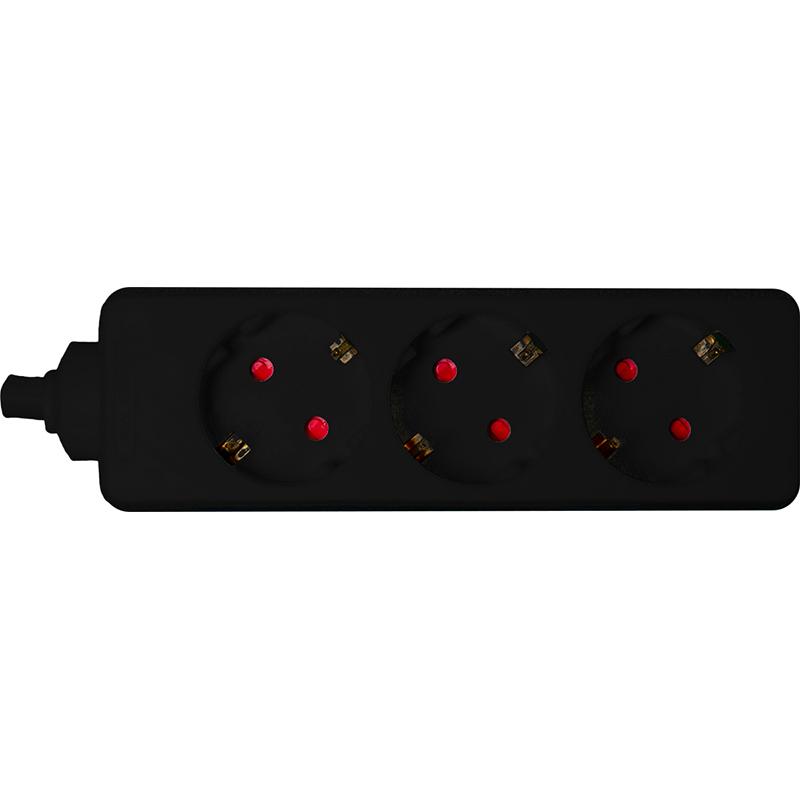 Tischsteckdosen_3-fach_schwarz: TS-Electronic LED Licht